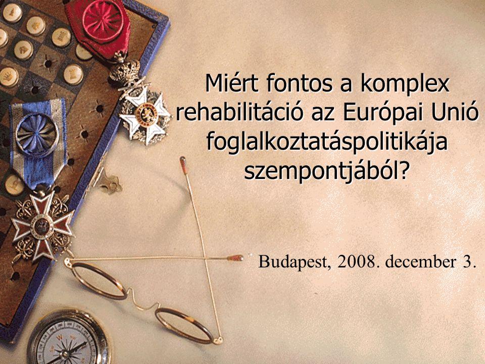 Miért fontos a komplex rehabilitáció az Európai Unió foglalkoztatáspolitikája szempontjából