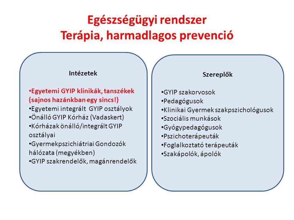 Egészségügyi rendszer Terápia, harmadlagos prevenció