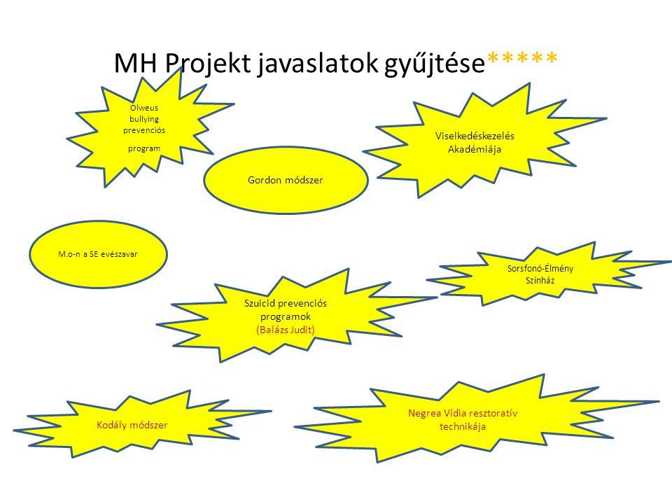 MH Projekt javaslatok gyűjtése*****