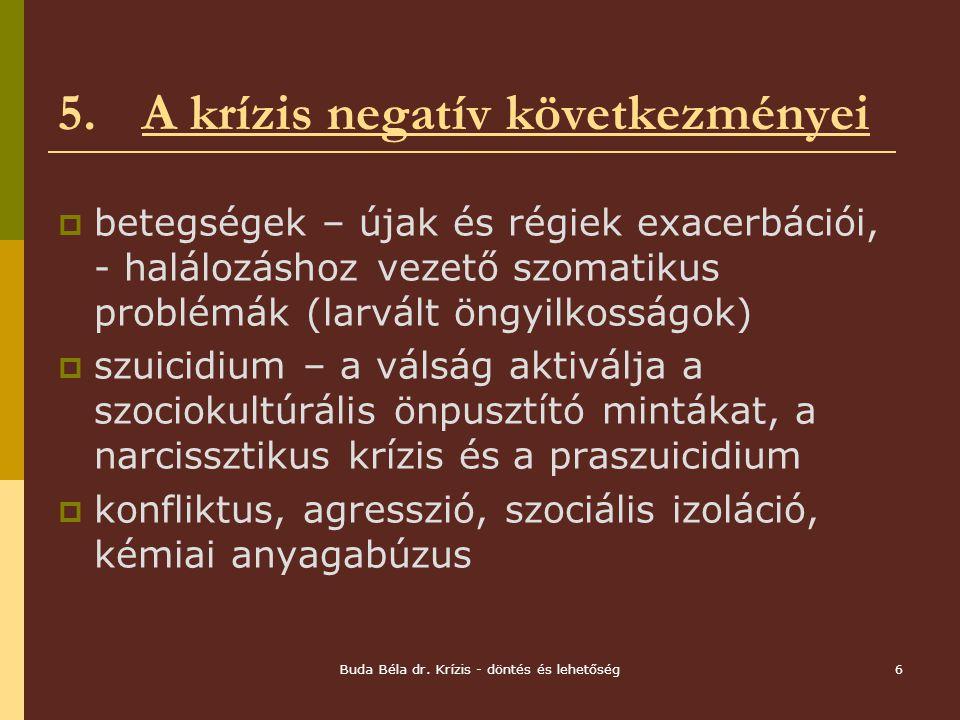 5. A krízis negatív következményei