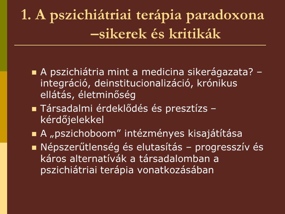 1. A pszichiátriai terápia paradoxona –sikerek és kritikák