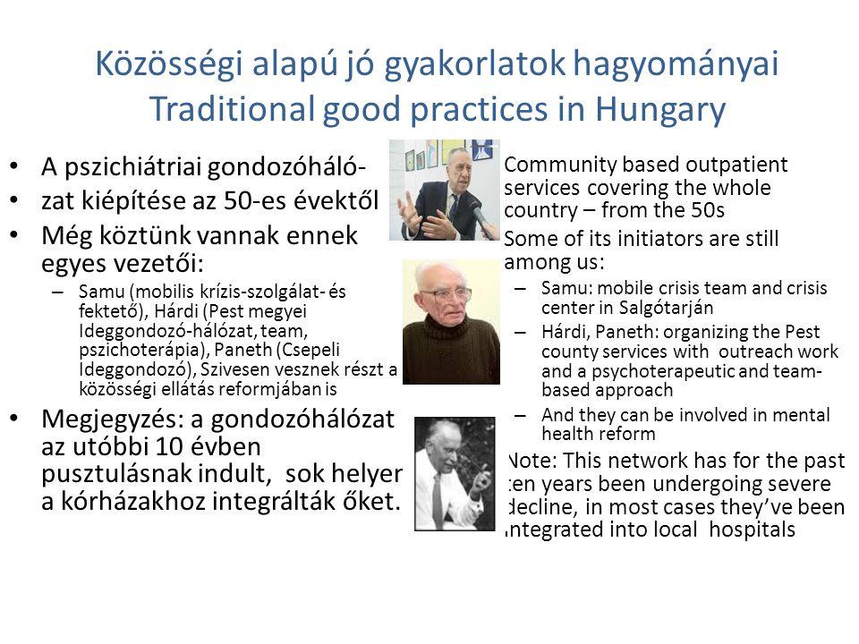 Közösségi alapú jó gyakorlatok hagyományai Traditional good practices in Hungary