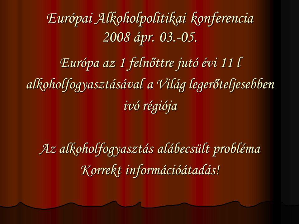 Európai Alkoholpolitikai konferencia 2008 ápr. 03.-05.