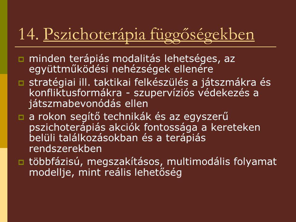 14. Pszichoterápia függőségekben