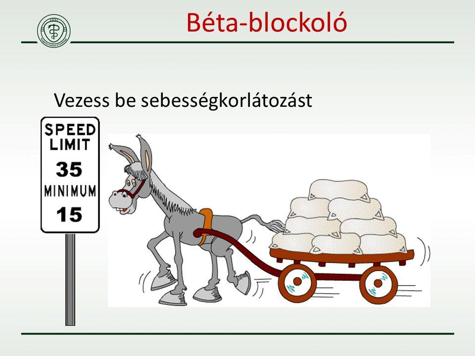 Béta-blockoló Vezess be sebességkorlátozást