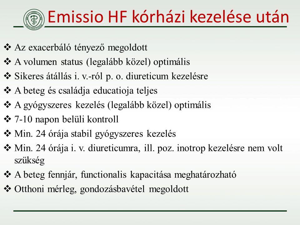Emissio HF kórházi kezelése után