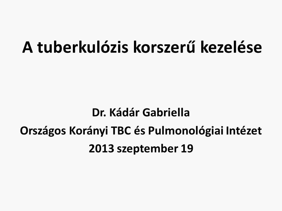 A tuberkulózis korszerű kezelése