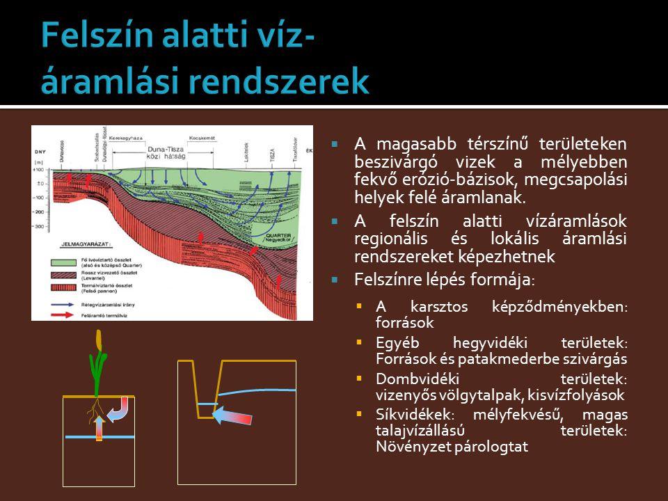 Felszín alatti víz- áramlási rendszerek