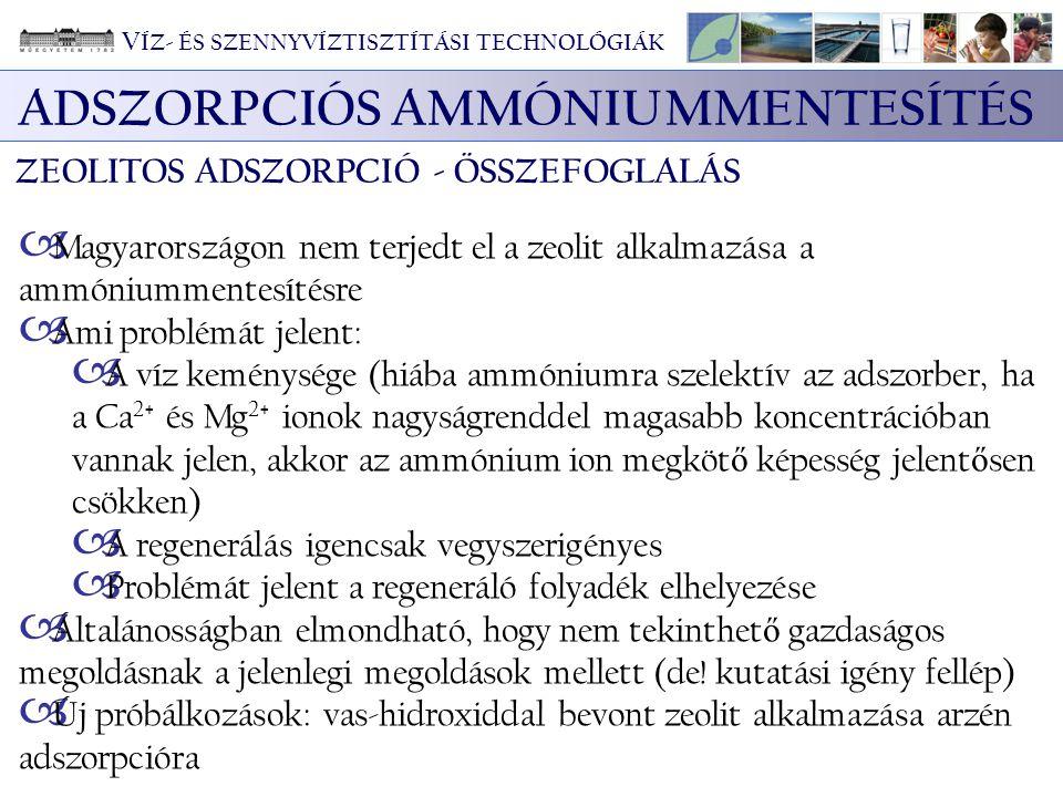 ADSZORPCIÓS AMMÓNIUMMENTESÍTÉS