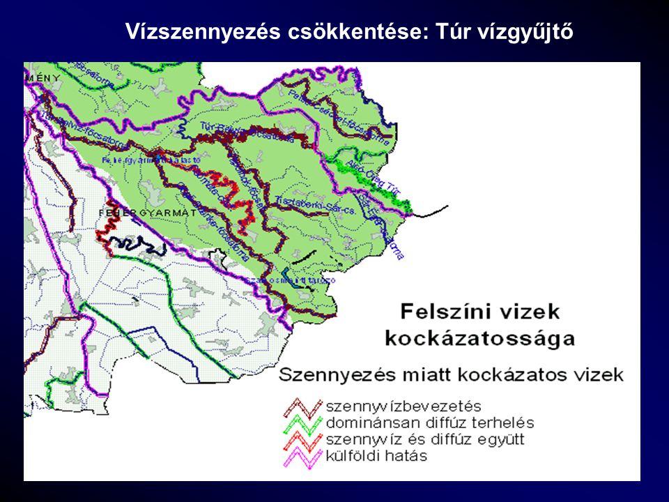 Vízszennyezés csökkentése: Túr vízgyűjtő
