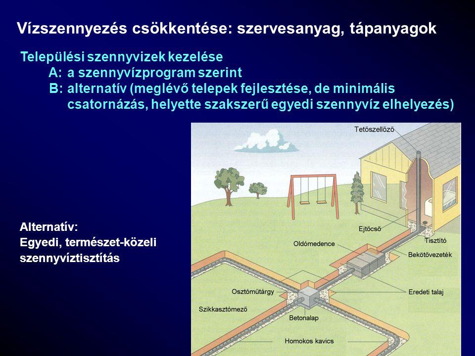 Vízszennyezés csökkentése: szervesanyag, tápanyagok