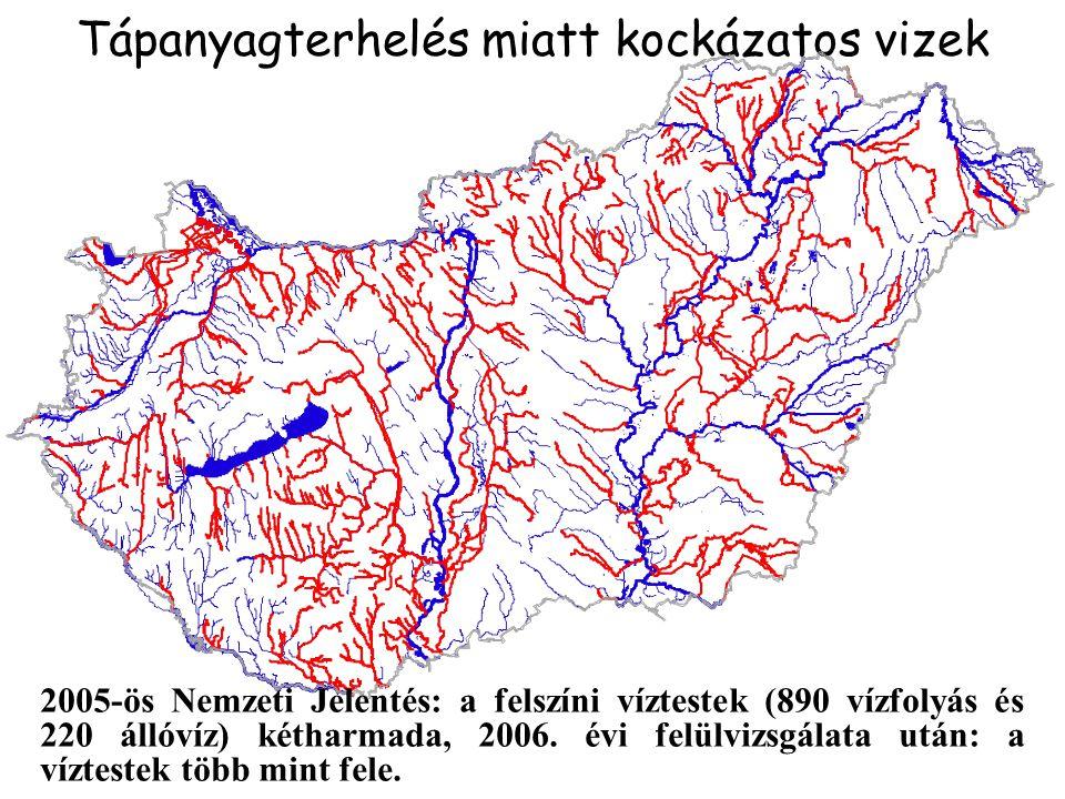 Tápanyagterhelés miatt kockázatos vizek