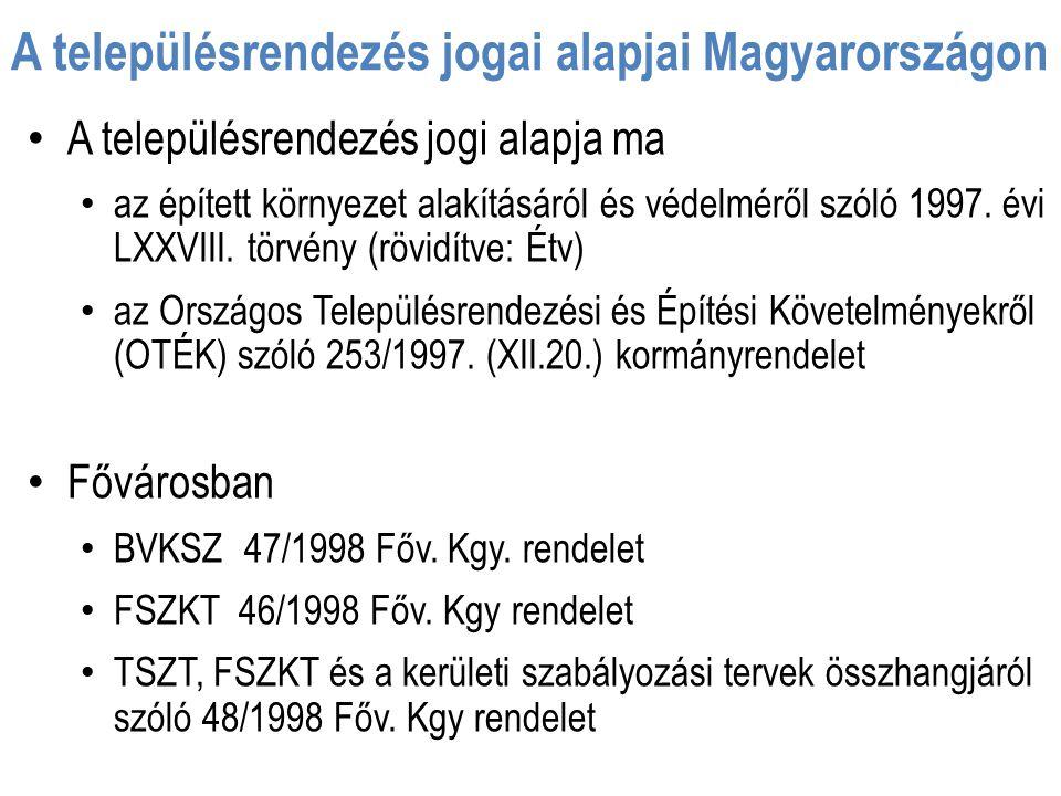 A településrendezés jogai alapjai Magyarországon