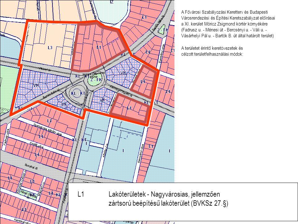 L1 Lakóterületek - Nagyvárosias, jellemzően