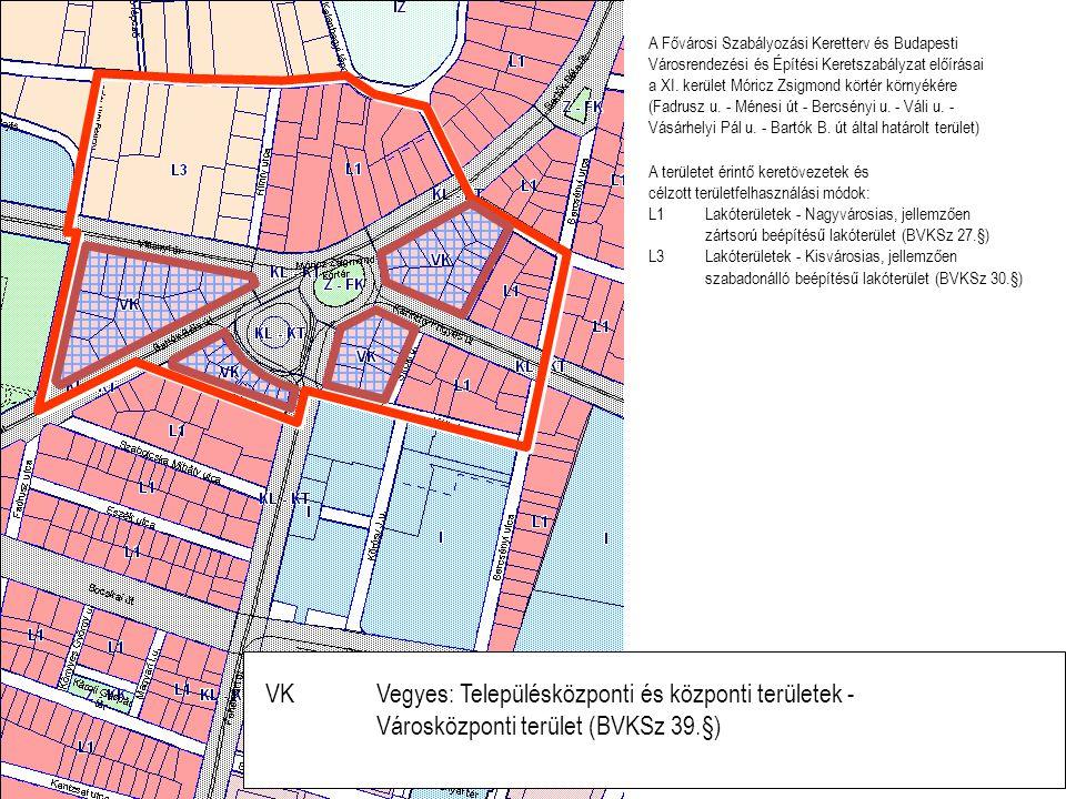 VK Vegyes: Településközponti és központi területek -