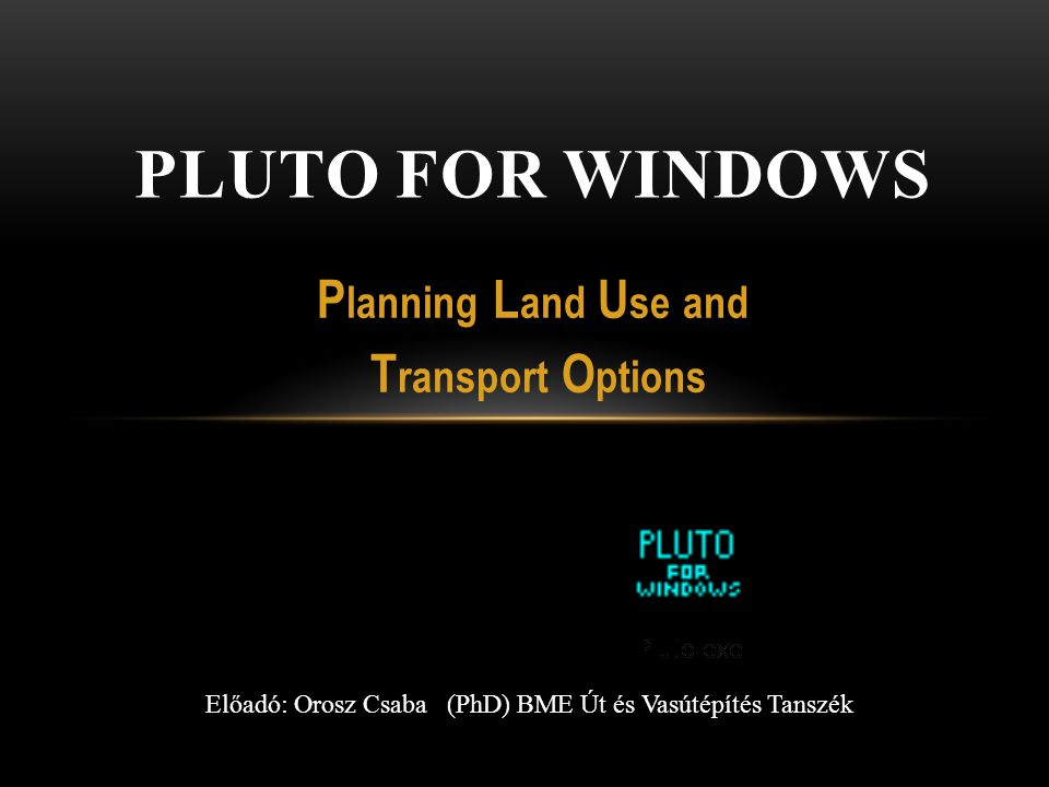 Planning Land Use and Transport Options