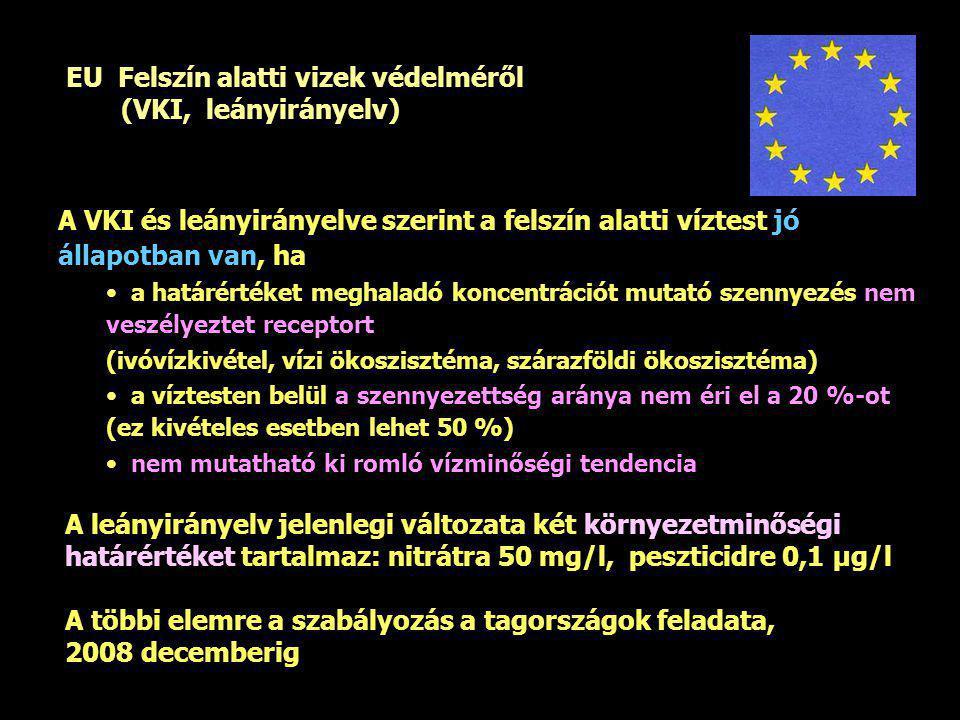 EU Felszín alatti vizek védelméről (VKI, leányirányelv)