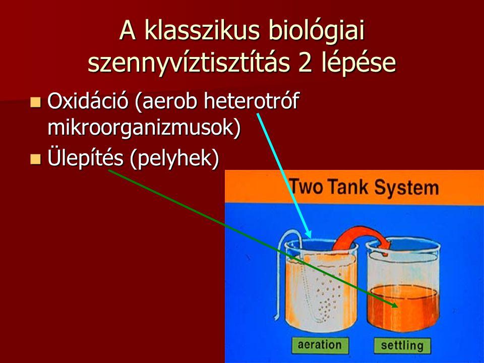 A klasszikus biológiai szennyvíztisztítás 2 lépése