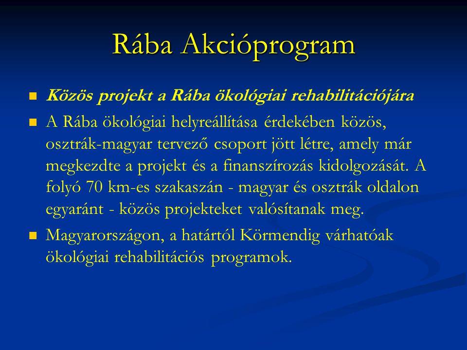 Rába Akcióprogram Közös projekt a Rába ökológiai rehabilitációjára