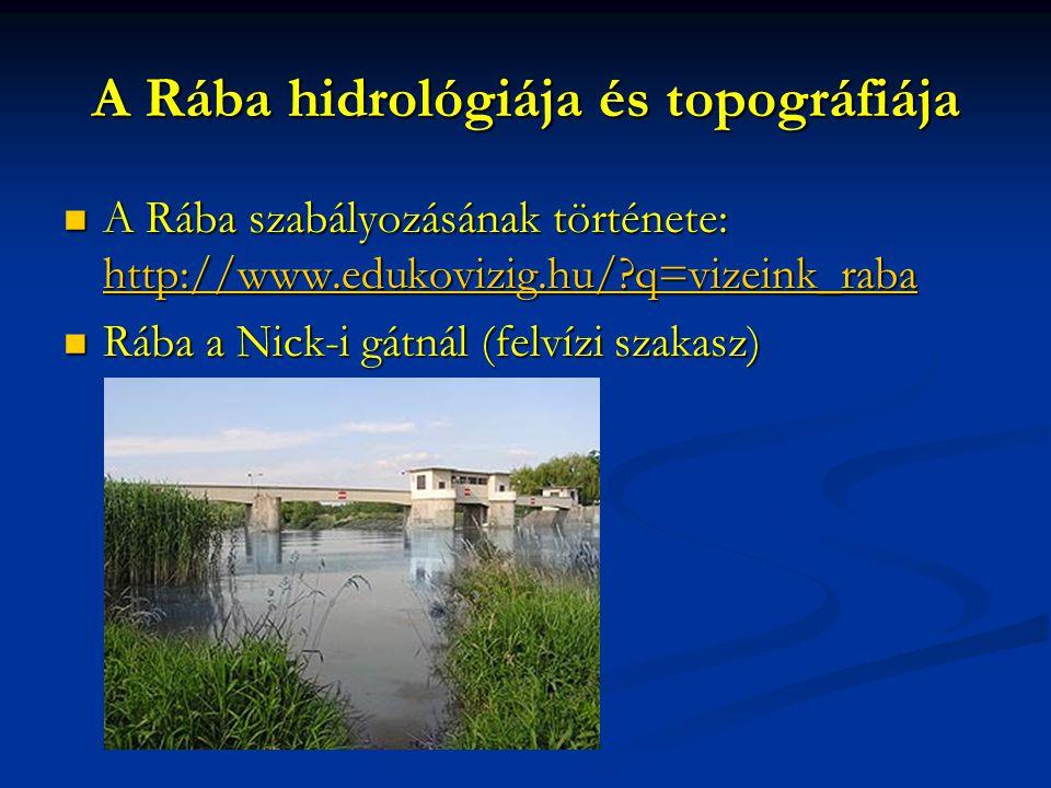 A Rába hidrológiája és topográfiája