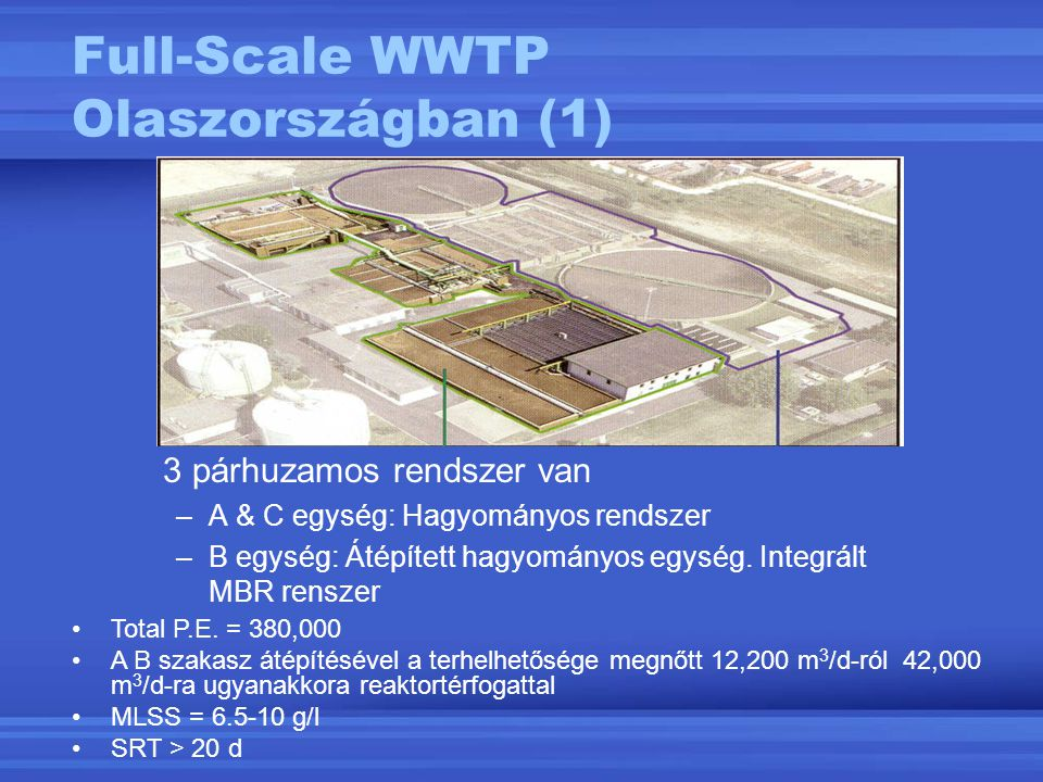 Full-Scale WWTP Olaszországban (1)