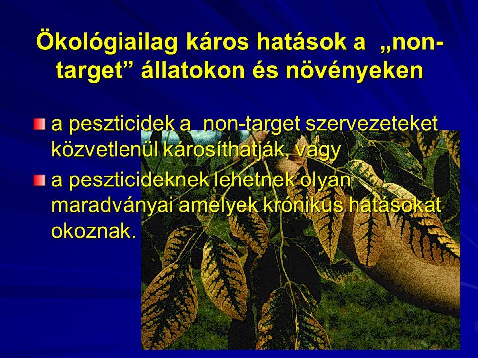 """Ökológiailag káros hatások a """"non-target állatokon és növényeken"""