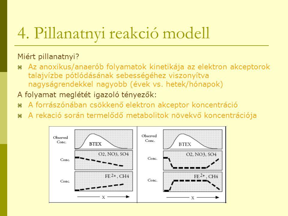 4. Pillanatnyi reakció modell