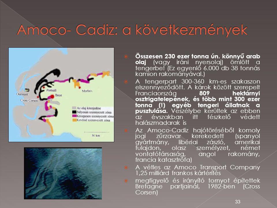 Amoco- Cadiz: a következmények