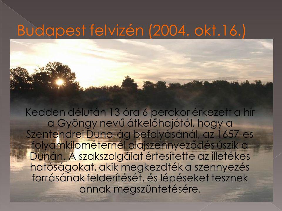 Budapest felvizén (2004. okt.16.)