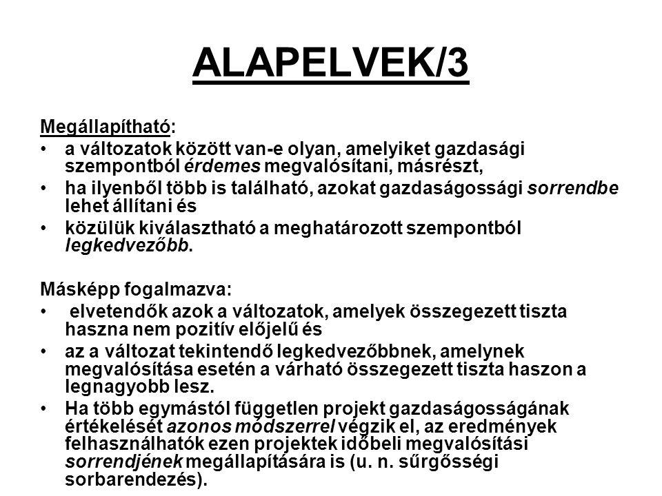 ALAPELVEK/3 Megállapítható: