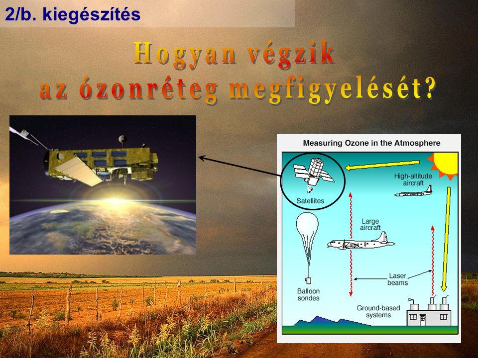 az ózonréteg megfigyelését