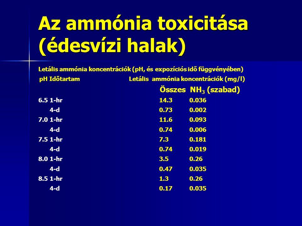 Az ammónia toxicitása (édesvízi halak)