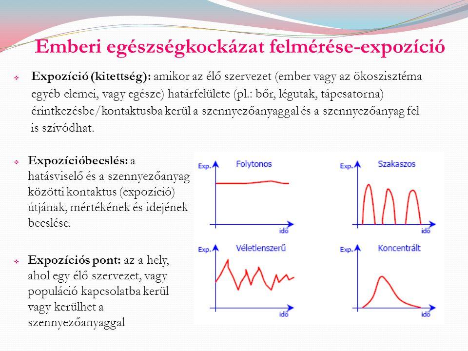 Emberi egészségkockázat felmérése-expozíció