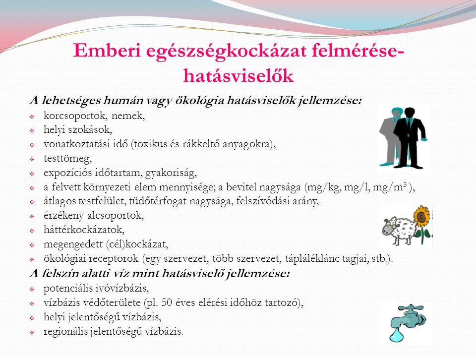 Emberi egészségkockázat felmérése-hatásviselők