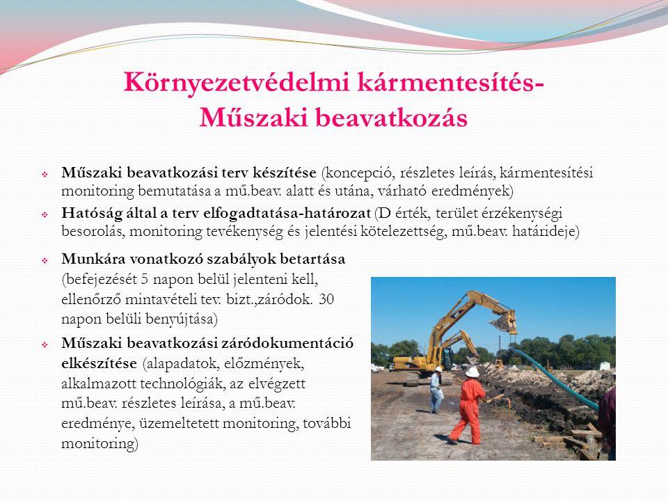 Környezetvédelmi kármentesítés- Műszaki beavatkozás
