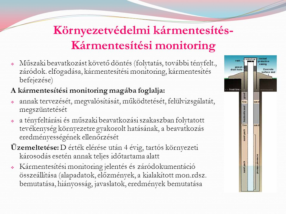 Környezetvédelmi kármentesítés- Kármentesítési monitoring