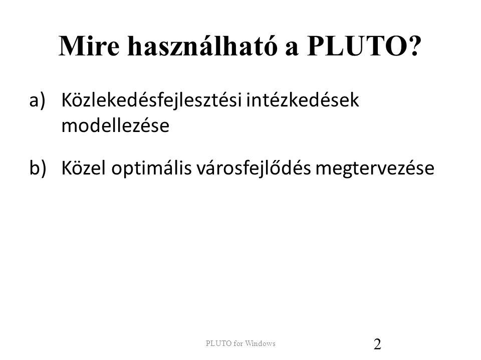 Mire használható a PLUTO