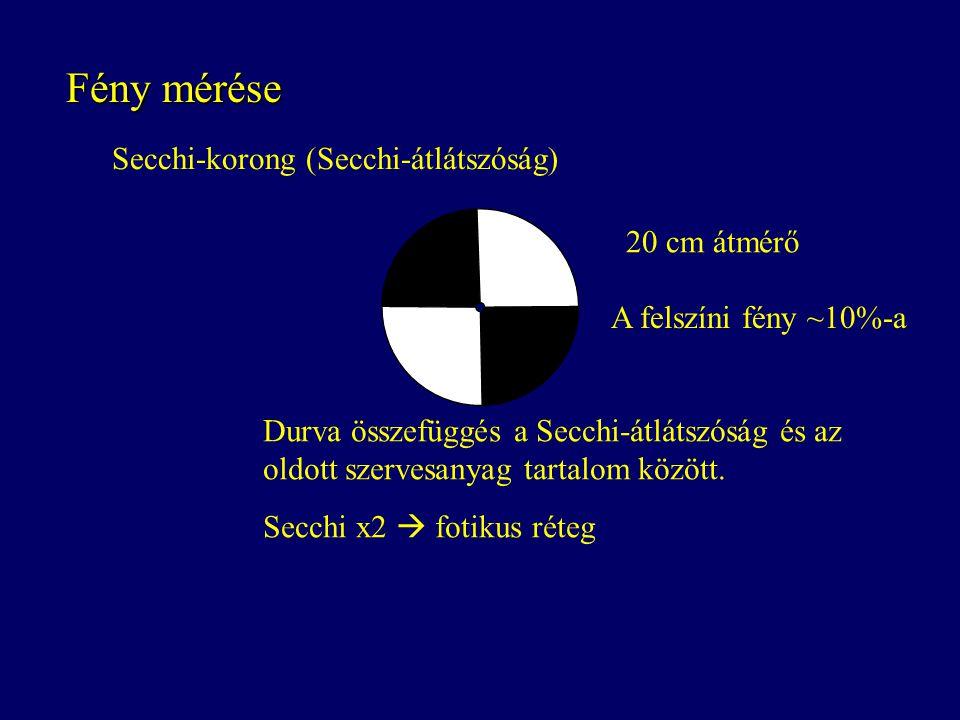 Fény mérése Secchi-korong (Secchi-átlátszóság) 20 cm átmérő