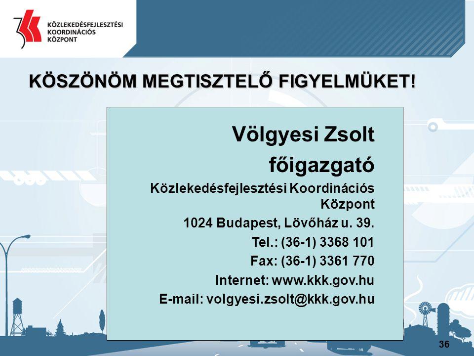 Völgyesi Zsolt főigazgató KÖSZÖNÖM MEGTISZTELŐ FIGYELMÜKET!
