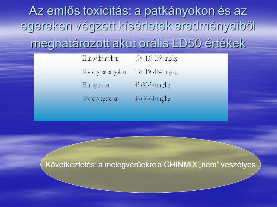 """Következtetés: a melegvérűekre a CHINMIX """"nem veszélyes"""