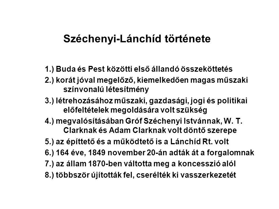 Széchenyi-Lánchíd története