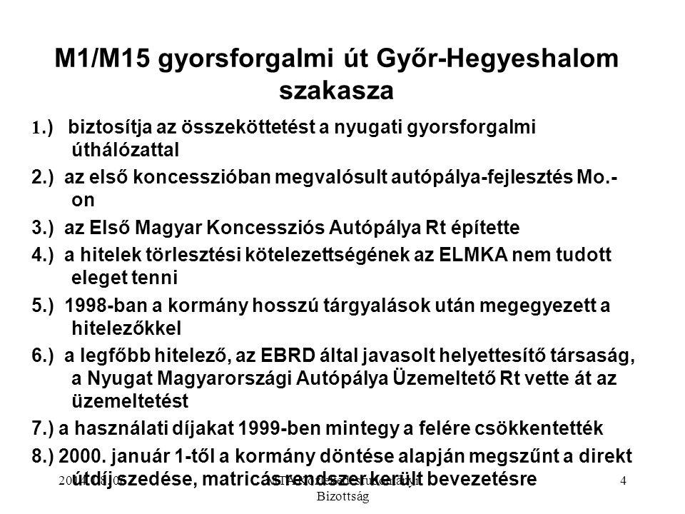 M1/M15 gyorsforgalmi út Győr-Hegyeshalom szakasza