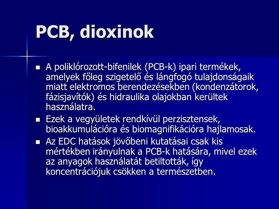 PCB, dioxinok