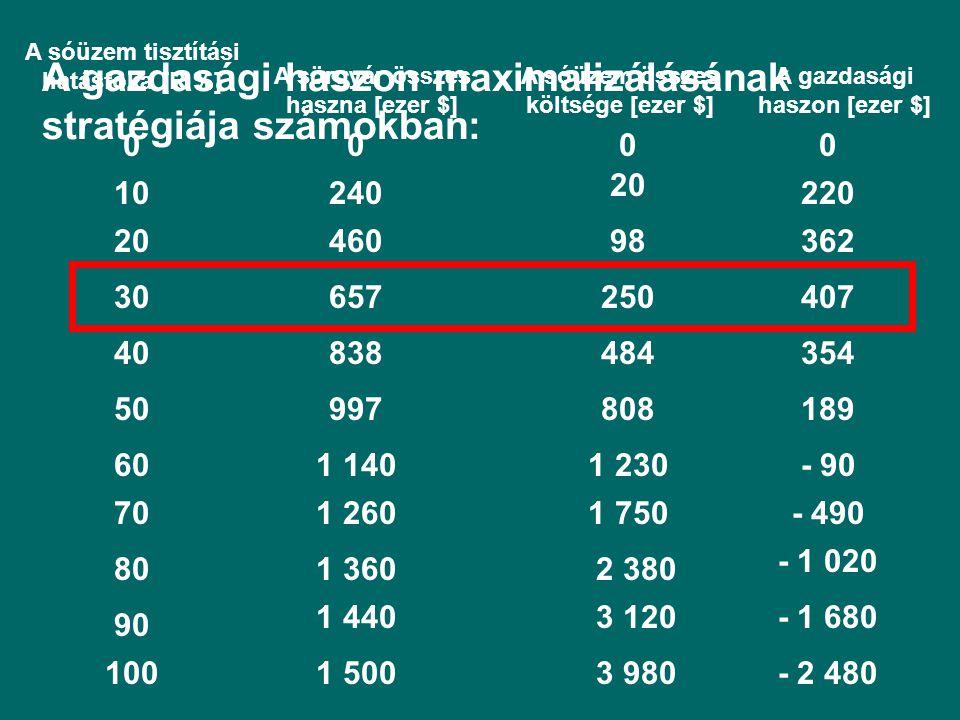 A gazdasági haszon maximalizálásának stratégiája számokban: