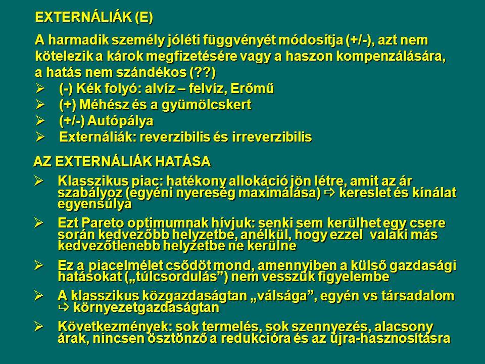 EXTERNÁLIÁK (E)
