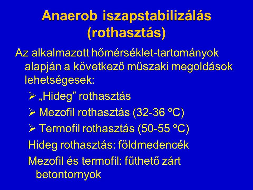 Anaerob iszapstabilizálás (rothasztás)