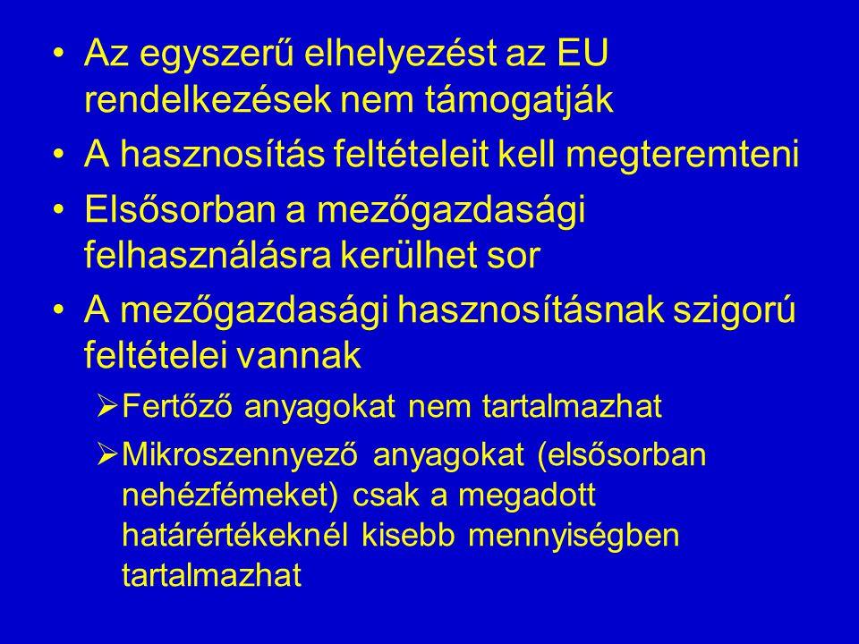 Az egyszerű elhelyezést az EU rendelkezések nem támogatják