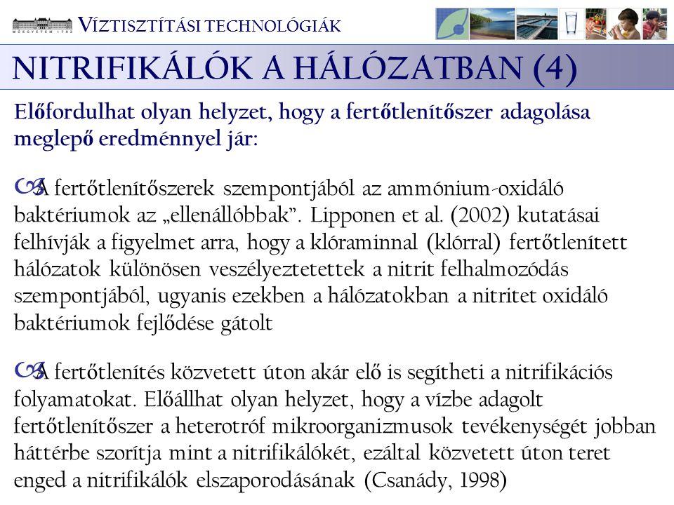 NITRIFIKÁLÓK A HÁLÓZATBAN (4)