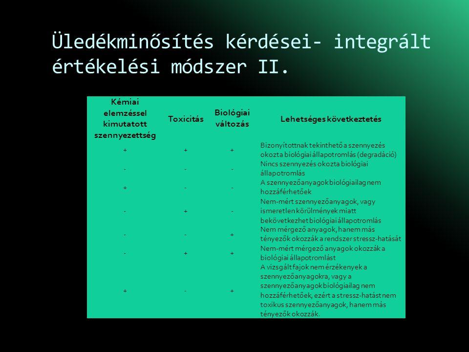 Üledékminősítés kérdései- integrált értékelési módszer II.