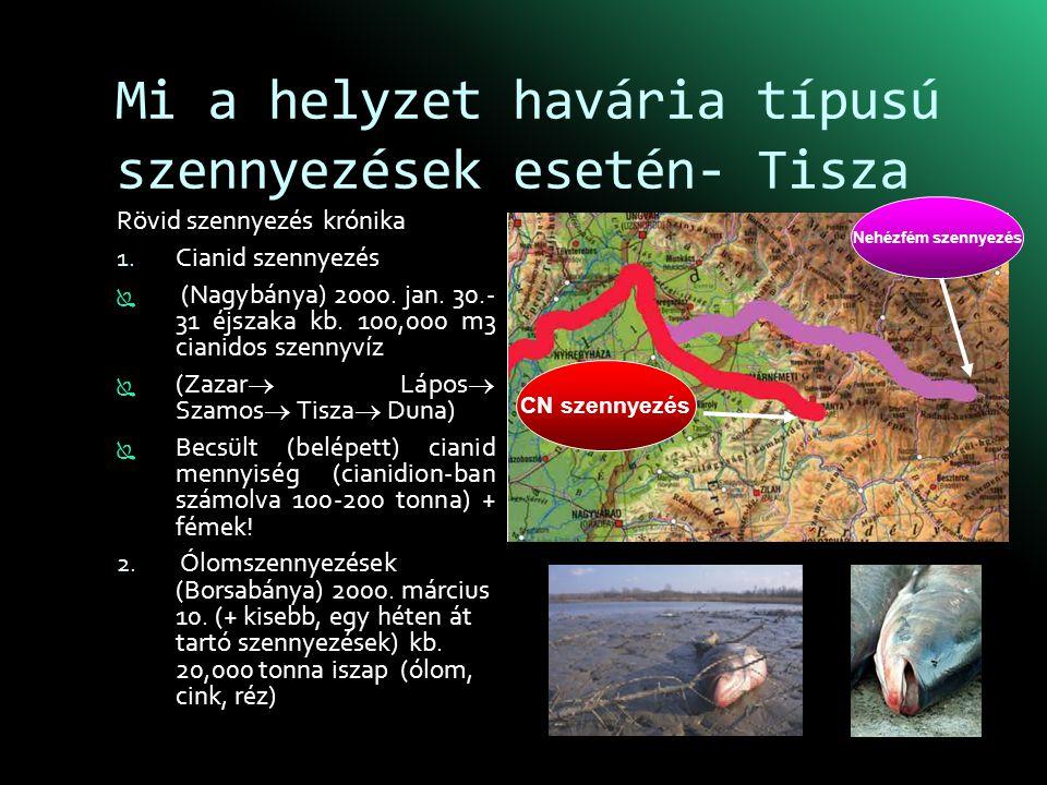 Mi a helyzet havária típusú szennyezések esetén- Tisza